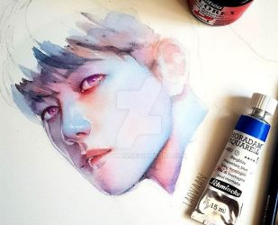 Baekhyun from EXO - WIP by Laovaan