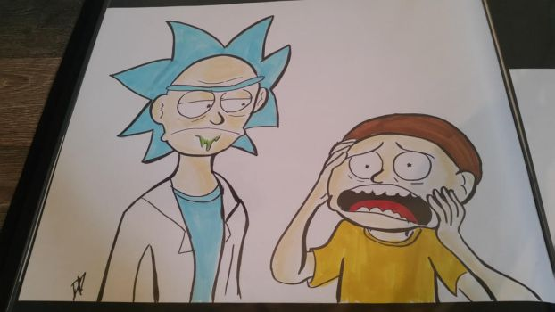 Rick and Morty by knuxluigi20