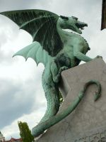 Bronze Dragon_Stock by MJ84-StockPhotos