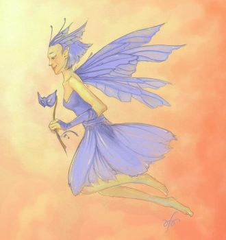 Chicory Fairy by inkwraith