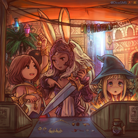 FF12 - Ashe, Fran, and Panelo by Dice9633