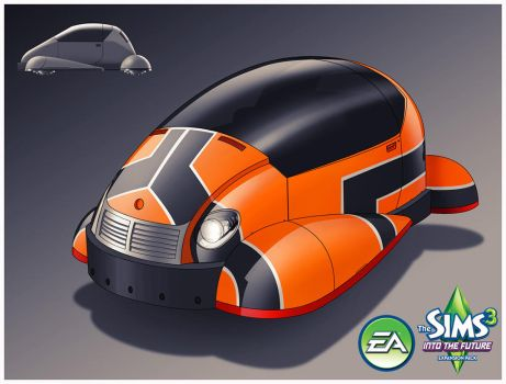 Sims 3: Into the Future- HoverCar 1 by TimothyAndersonArt