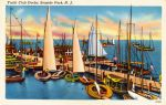 Vintage New Jersey - Seaside Park Yacht Club by Yesterdays-Paper