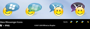 Glass Messenger Icons by bogo-d