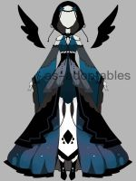 night princess outfit adoptable CLOSED by AS-Adoptables