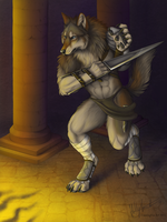 Lycanthrope Warrior by Bear-hybrid