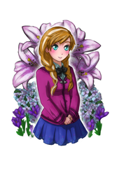Re- Anna School Gril by TropicalSnowflake