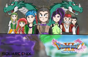 Dragon Quest XI: Old Style Fanart