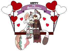 [Gift] Happy 7th Anniversary Sweetheart! by NobleChinchi