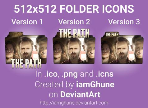 The Path Folder Icons 3 Versions in 512x512 by iamGhune