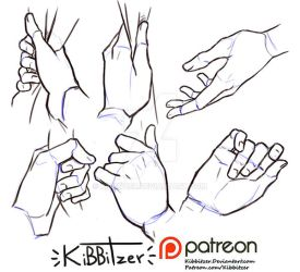 Hands reference sheet 9 by Kibbitzer