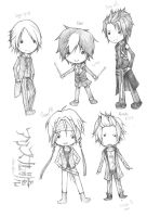 alice nine. chibis. by focaccina