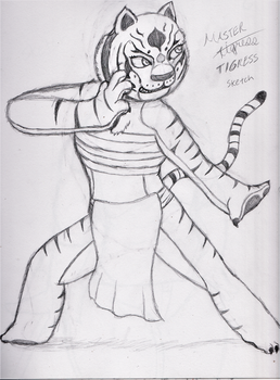 Tigress doodle by DrWho365