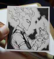 Inktober2016 Day 14 Grillby by peetcooper