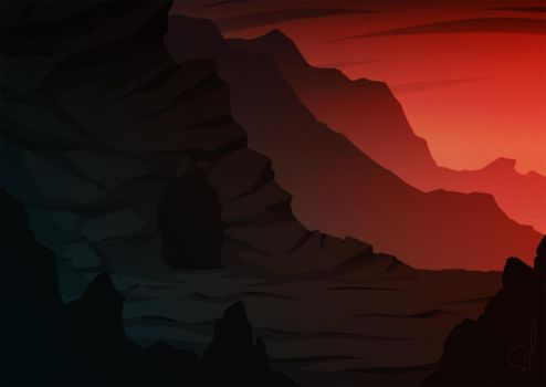 Mountain Cave by OGARart