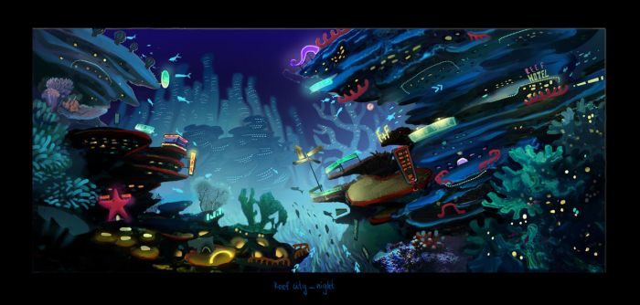 reefcity concept (for animated movie project) by monsta87