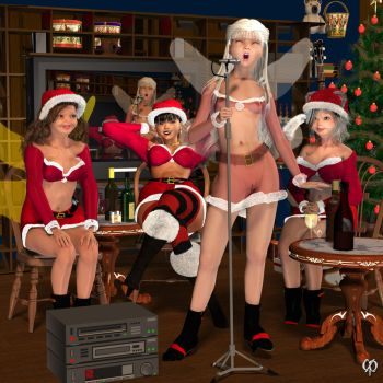 Christmas party by Chronophontes