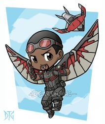 Commission - Falcon and Redwing chibies by DeanGrayson