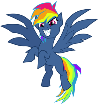 Rainbow Dash, Destroyer of Pies by cheezedoodle96