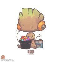 503 - Baby Groot by Jrpencil
