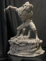 Wolfman with base 1 by Blairsculpture