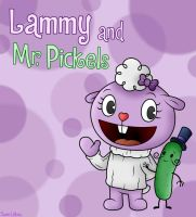 Happy Tree Friends: Lammy and Mr. Pickels by BoxBird
