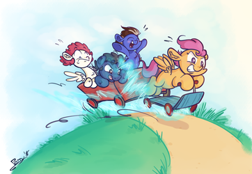 Gotta Scoot Fast by Perrydotto