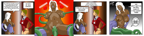 Lactation Lass vs Tentacle Monster by Afrodisium