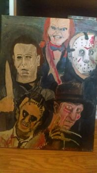 Famous Horror Movie Killers by HorrorArtistfromCali