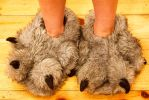 Furry Paw Slippers by Blodwedden