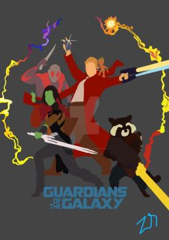 Guardians of the galaxy poster by LinweCulnamo