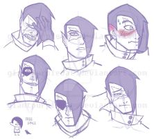 MS: Dagger Mouth Expression Studies by GiantPurpleCat
