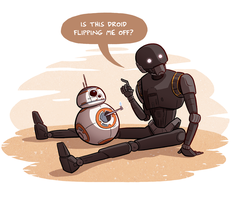 K-2SO and BB-8 by samandfuzzy