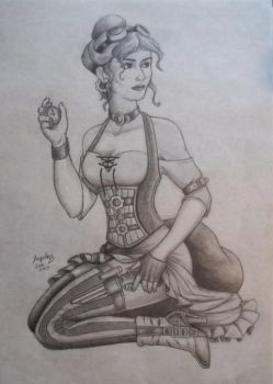 +Commission: Steampunk Girl by realrogue