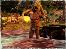 Dragon Age Origins: Duncan Bathing by Berserker79