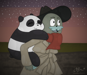 We Bare Bears: Piggy Back Ride by Clairbanthedoll
