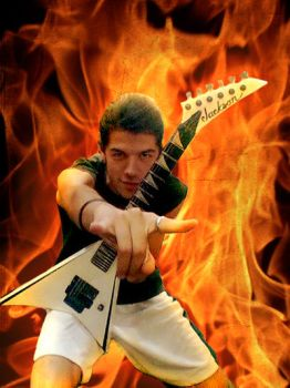 Alex in flames by AirScorp