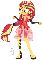 EQG Series - Sunset Shimmer Friendship Power by ilaria122