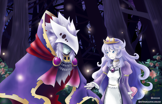 Thanatos and Sleeping Beauty by luililie