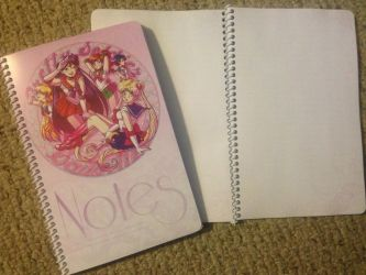 Sailor Moon Notebook by madelezabeth