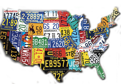 license plates of the usa by grams346