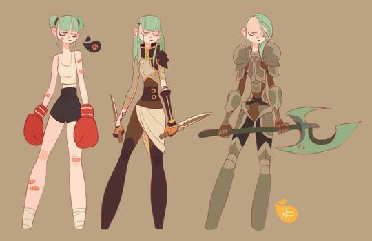 Angry Girl Line Up by MeoMai