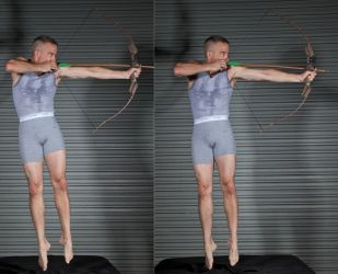 Male Archer Air Shot - Pose Reference by SenshiStock