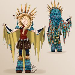 Astrid as Stormfly by DonNeko