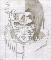 naruto saskue drawing by pken891