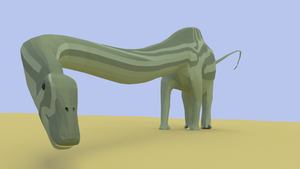 Supersaurus In Mid Poly by kuzim