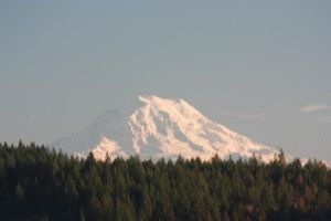 Mount Rainier with Snow by BlueDragonRose