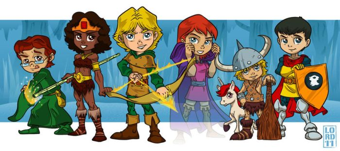 Dungeons n Dragons Groupshot by lordmesa