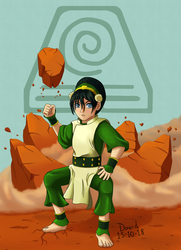 Toph Beifong by Cerebro-IV