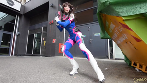 D.va Overwatch Cosplay - Shootout 1 by Hollitaima